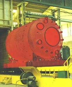 Vessel is fired at high temperatures in an electric furnace
