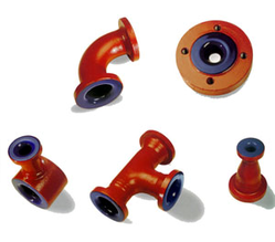 Glass-lined pipe sections
