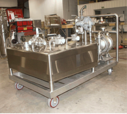 CIP cart for Filter Dryer discharge