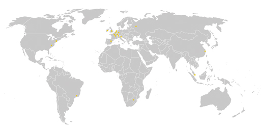 World Map De Dietrich Business Units