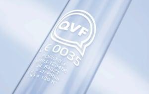 QVF glass marking
