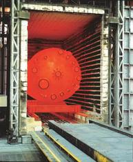 reactor in oven